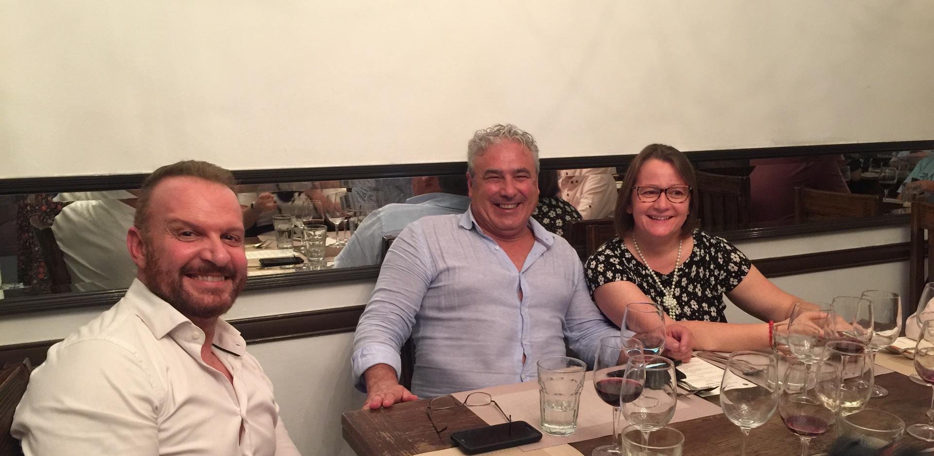 from left, Eugenio Amedei from the Italian Wine Club, Vittorio & Grazia ADRIANO