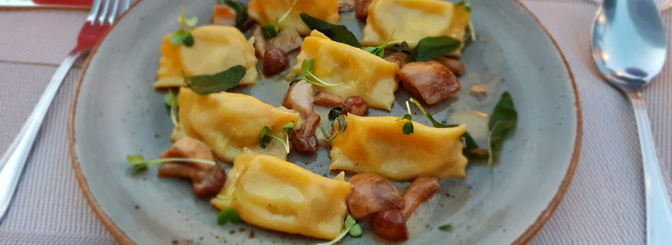Piemontese speciality 'Agnolotti del Plin'