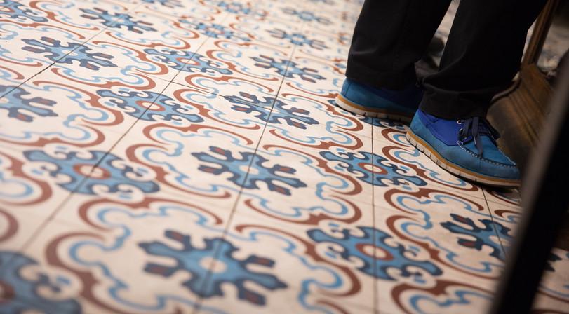 Beautiful Floor Tiles at Latteria Mozzarella Bar