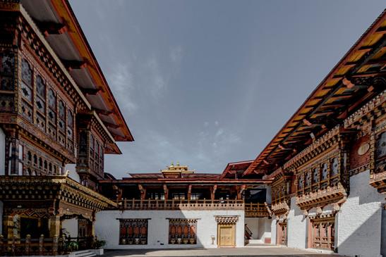 Amankora, Bhutan - Paro Dzong Interior C