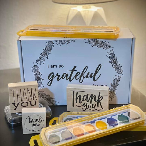 Family Water Color Gratitude Pack