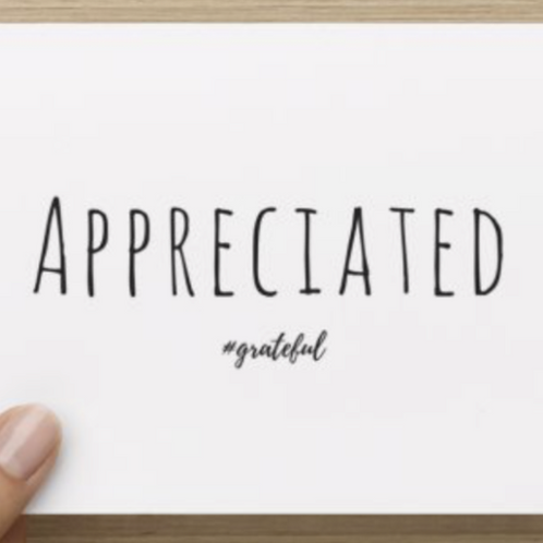 Appreciated Thank You's