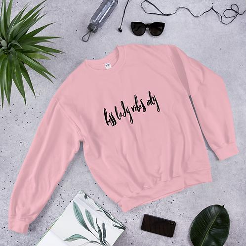 Boss Lady Vibes Pink Sweatshirt