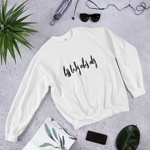 Boss Lady Vibes White Sweatshirt
