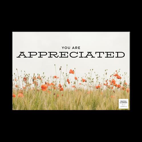 Appreciated Postcard