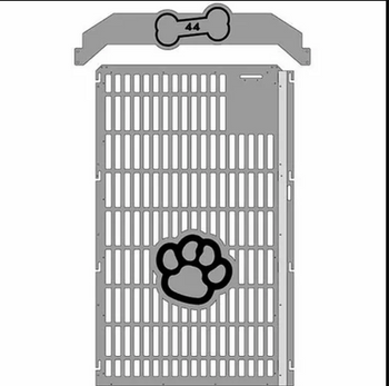Great shot of the front of our kennel doors!