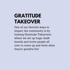 Gratitude Takeover
