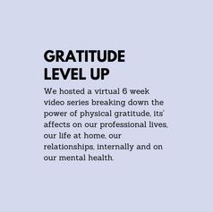 Gratitude Level Up