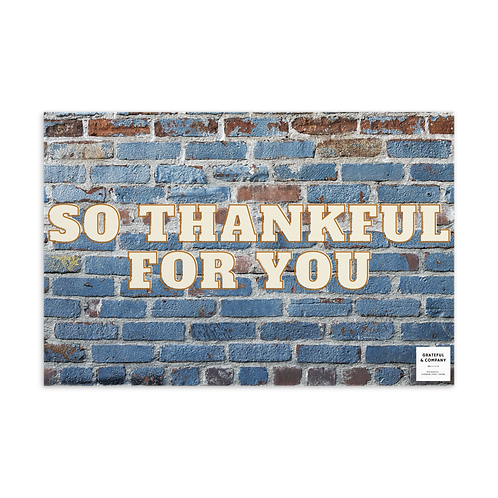 So Thankful for You Postcard
