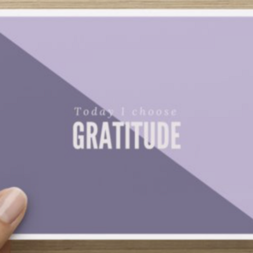 Today I Choose Gratitude Thank You's
