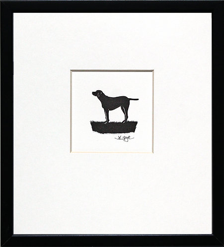 English Pointer in Black Frame