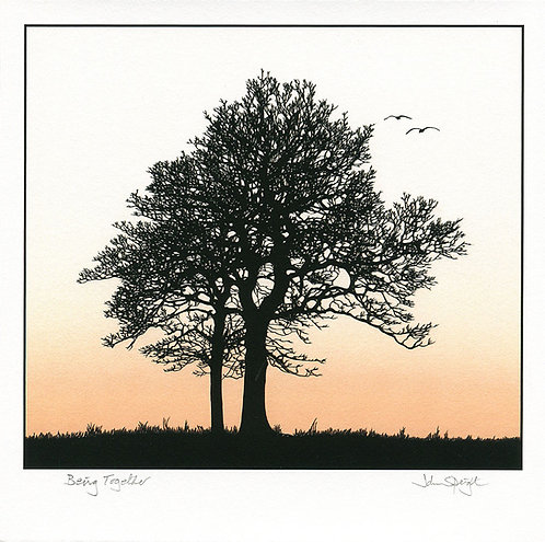 """Being Together 10"""" x 10"""" Giclee Print Signed"""