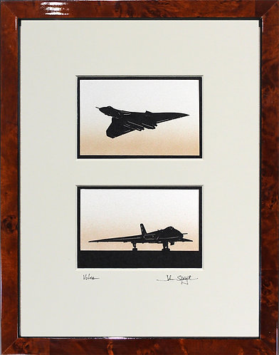 Vulcan Pair in Walnut Veneer Frame
