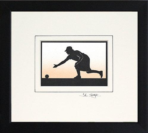 Bowls Player - Female in Black Frame