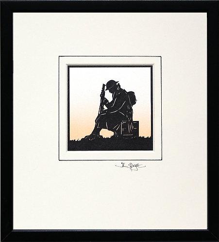 British Soldier WW1 in Black Frame