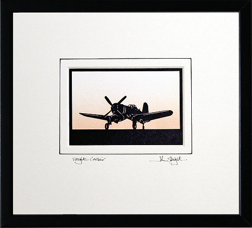Vought Corsair in Black Frame