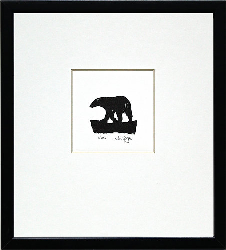Polar Bear in Black Frame