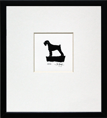 Giant Schnauzer - Docked Tail in Black Frame