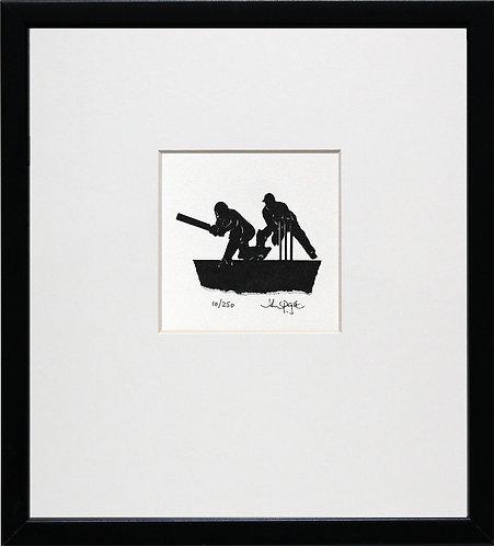 Cricket in Black Frame