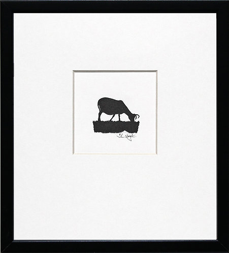 Hebridean Sheep - Grazing in Black Frame