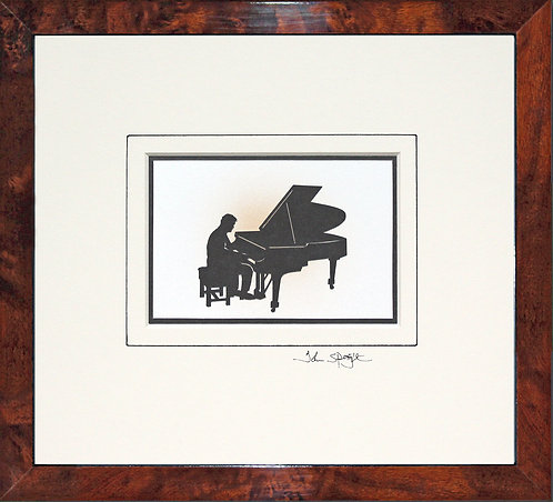 Pianist - Male in Walnut Veneer Frame