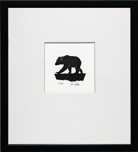 Bear in Black Frame