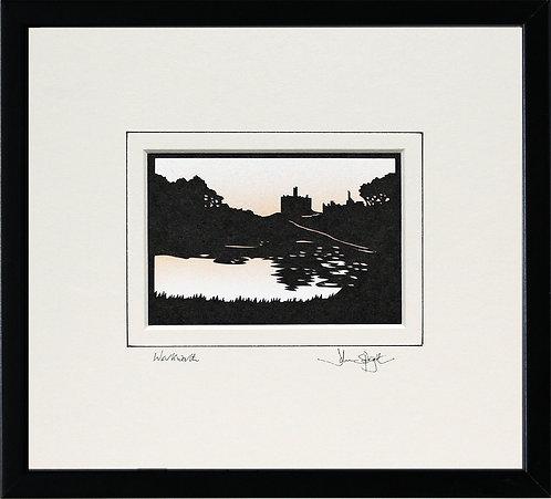 Warkworth Castle in Black Frame