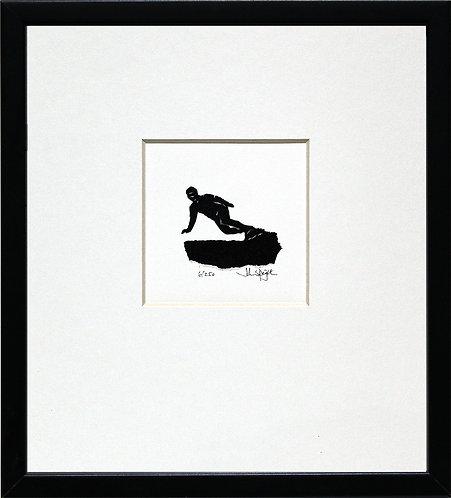 Snowboarding Male in Black Frame