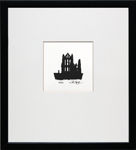 Whitby Abbey in Black Frame