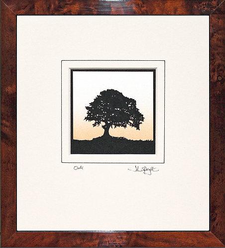 Oak in Walnut Veneer Frame