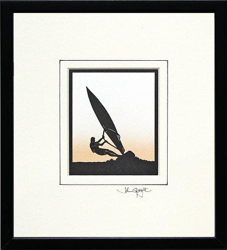 Windsurfer in Black Frame