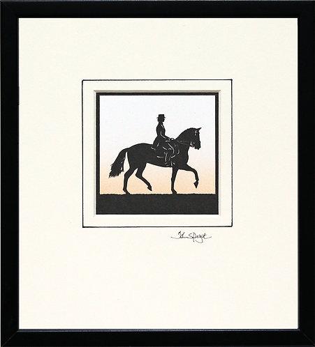 Dressage - Female Rider in Black Frame