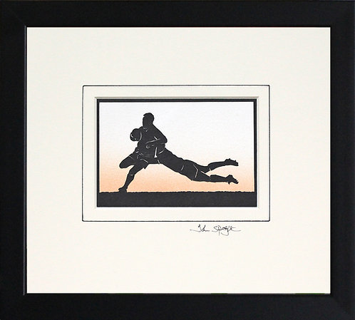 Rugby Players in Black Frame