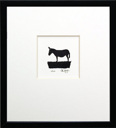 Donkey in Black Frame