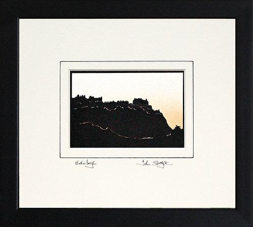Edinburgh in Black Frame