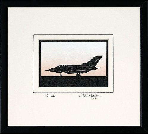 Tornado in Black Frame