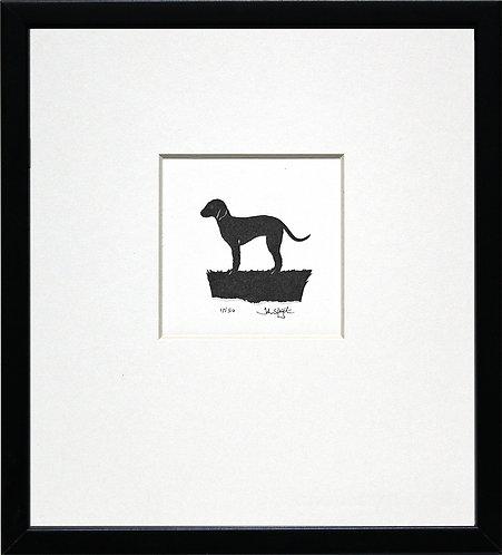 Bedlington Terrier in Black Frame