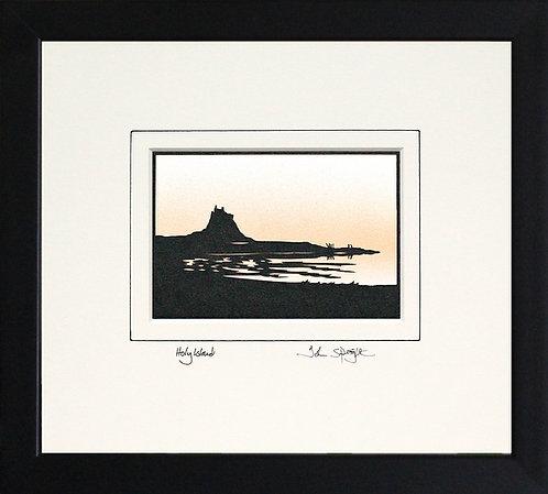 Holy Island in Black Frame
