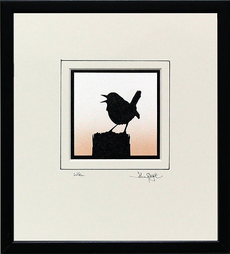 Wren in Black Frame