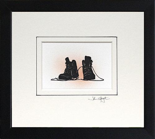 Walking Boots in Black Frame