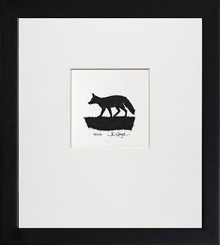 Fox in Black Frame
