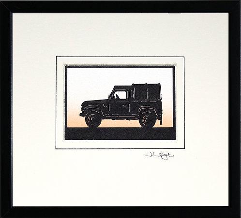 Farm Vehicle in Black Frame
