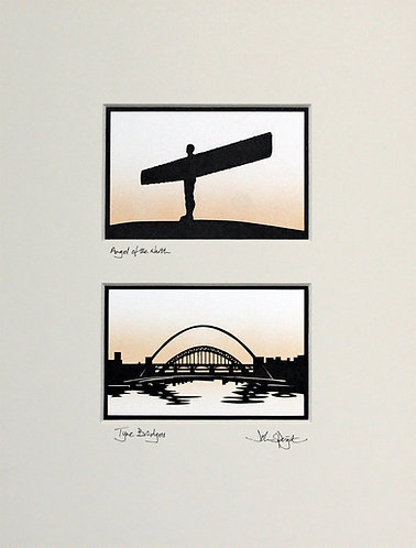Angel of the North & Tyne Bridges Pair