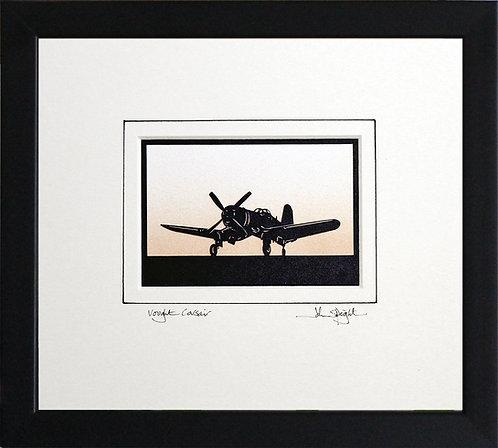 Vought Corsair in Black Frame