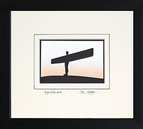 Angel of the North in Black Frame