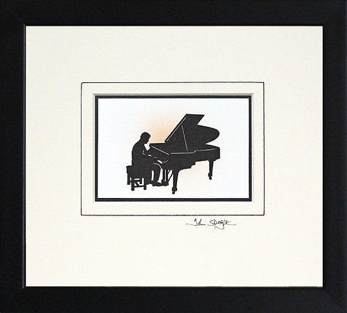 Pianist - Male in Black Frame