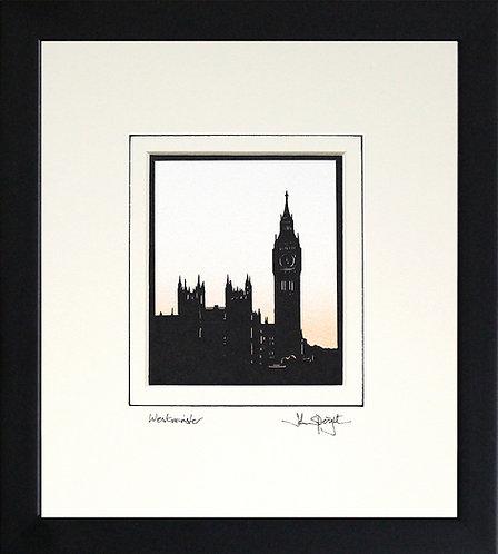 London Westminster in Black Frame