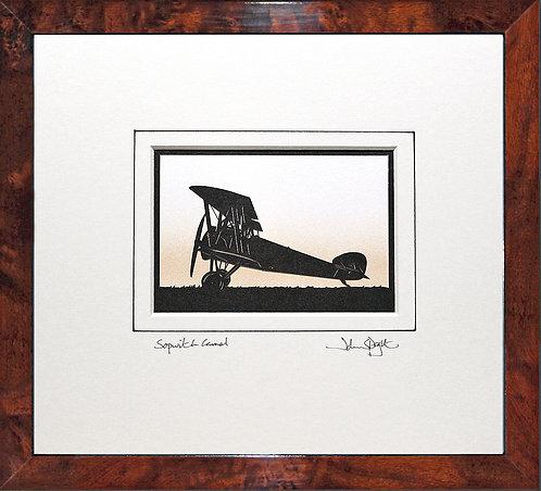 Sopwith Camel in Walnut Veneer Frame