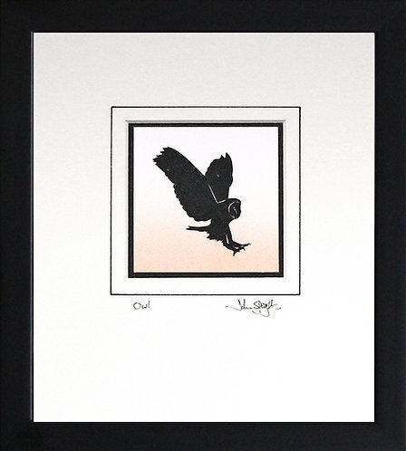 Owl in Black Frame