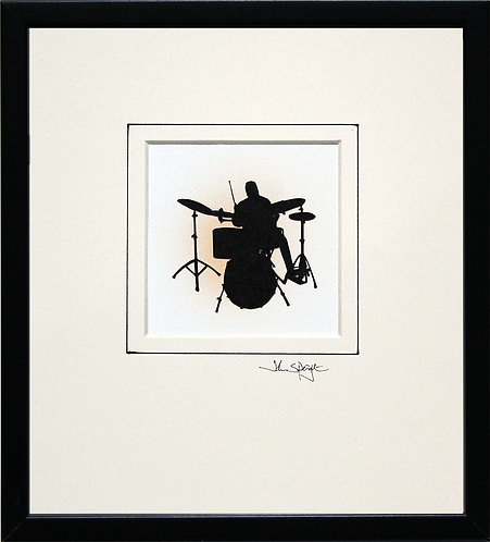 Drummer in Black Frame